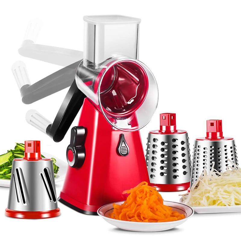 3 в 1 Многофункциональный нож для овощей, круглая мандолиновая терка для спиральлизатора, овощерезка, овощерезка для картофеля, кухонные гаджеты