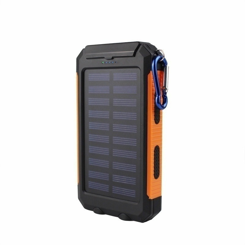8000mAh Waterproof Solar Power Bank Dual USB with SOS LED Charger Travel Powerbank for All Phone of All Over The World