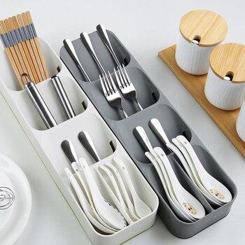Кухонный лоток для хранения столовых приборов, кухонный держатель для ножей, органайзер, Кухонный Контейнер, хранилище для ложки, вилки, разделительный держатель для ножей