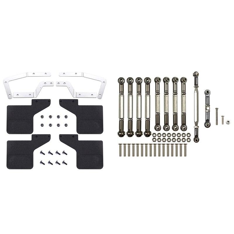 Barra de enlace de dirección de Metal, piezas con guardabarros delanteros y...