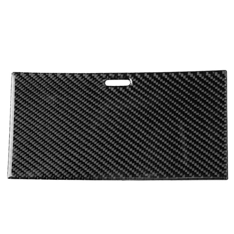 Painel de fibra de carbono caixa de engrenagens painel suporte de copo de água quadro do painel decalque capa guarnição para toyota land cruiser prado 2010-2018