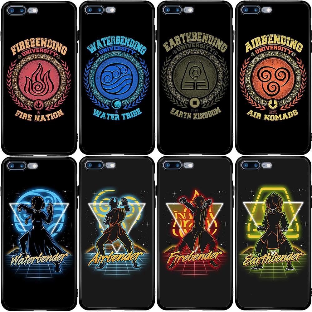 Avatar el último maestro aire. Caso de la cubierta para el iPhone 5 5S SE 6 6S 7 8 Plus XR X XS X 11 Pro Max Oneplus 3 T 5T 6T 7