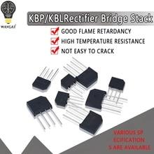 5PCS KBL406 KBL410 KBL608 KBL610 2A-6A 600V-1000V KBP206 KBP210 KBP307 KBP310 Einzelnen Phasen Diode Gleichrichter brücke Großhandel