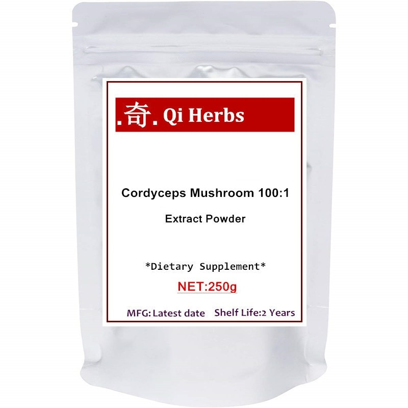 Organic Cordyceps Mushroom 100:1 Extract Powder, Supports Energy and Immune Health