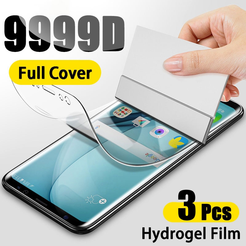 Screen Protector Protective Film For Samsung Galaxy S10 S10E S9 S8 S20 Plus Full Cover Hydrogel For A51 A50 A70 A71 Note 8 9 10