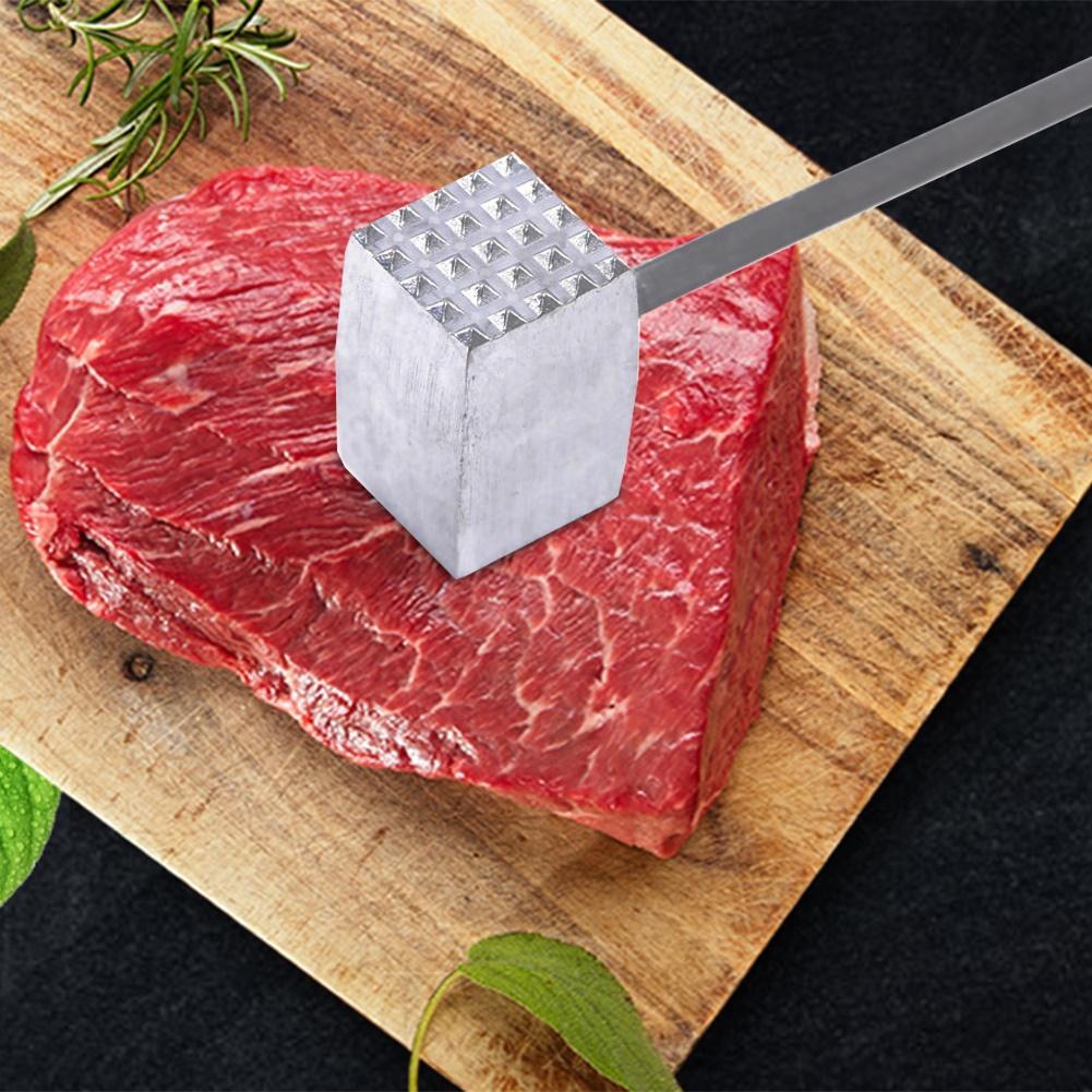 Herramienta de cocina de aleación de aluminio de dos lados suelta carne filete martillo para carne de cerdo ablandador