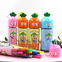 12182436 colors carrot watercolor pen highlighter marker pen school bookmarks cute midliner pen chrildren stationery gift