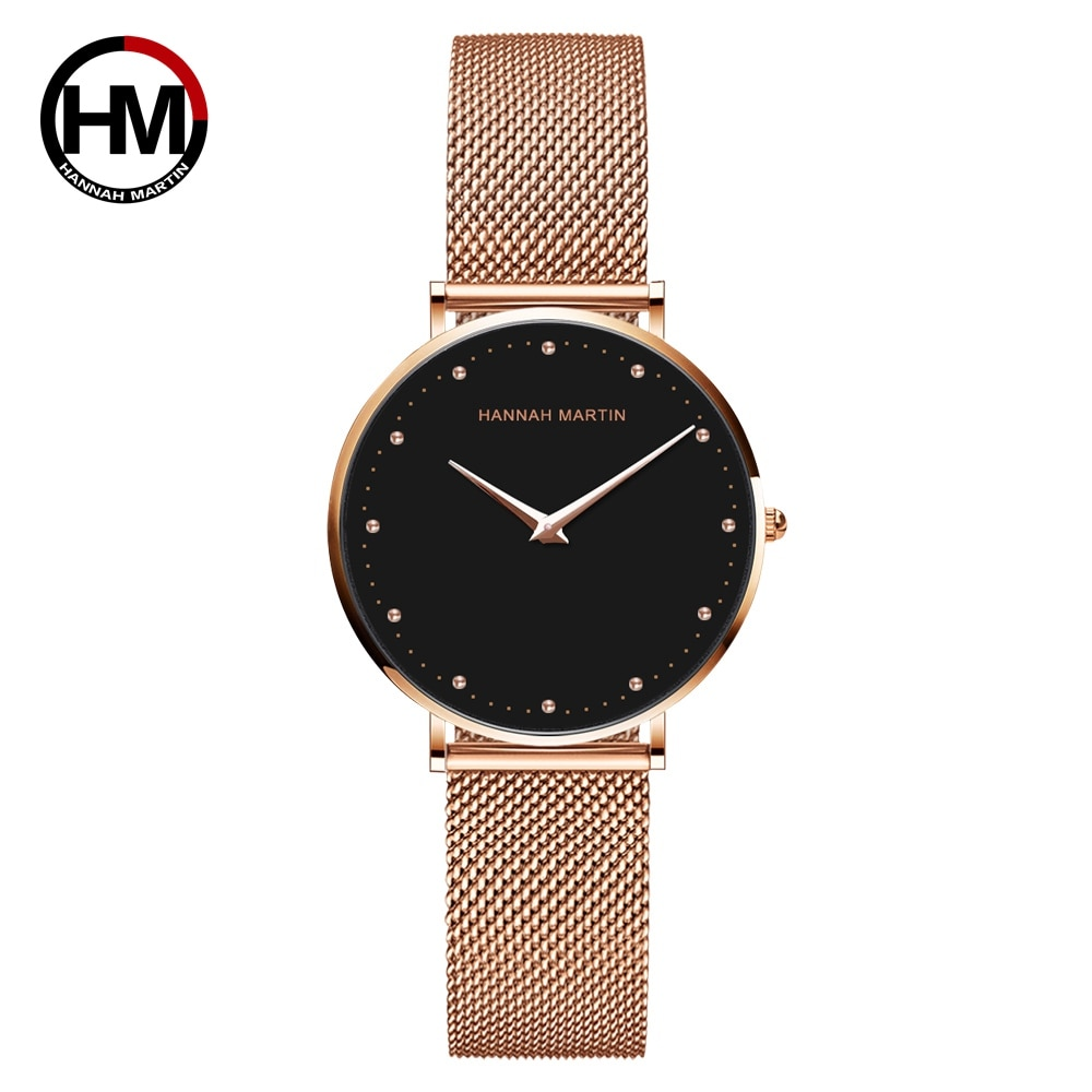 Anke Store  Women Watches New Top Brand Luxury Fashion Japan Quartz Movement  Rose Gold Waterproof Original Design Wrist watches enlarge