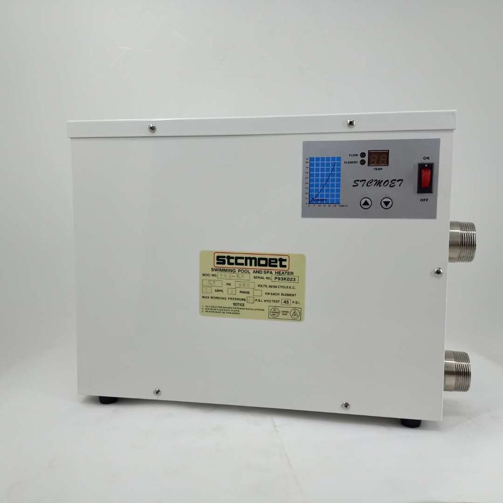 شحن مجاني 15KW220-240V50HZ جهاز تدفئة المسبح سبا سخان مع CE ، 1 ضمان سنة. مستقرة أداء العمل