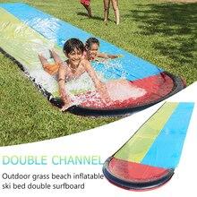 Jeux de piscine jouets de plein air Double toboggan gonflable enfants jeux de piscine dété jouets de plein air