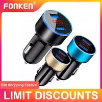 Автомобильное зарядное устройство FONKEN, универсальное, 2 USB-порта, 3,1 А