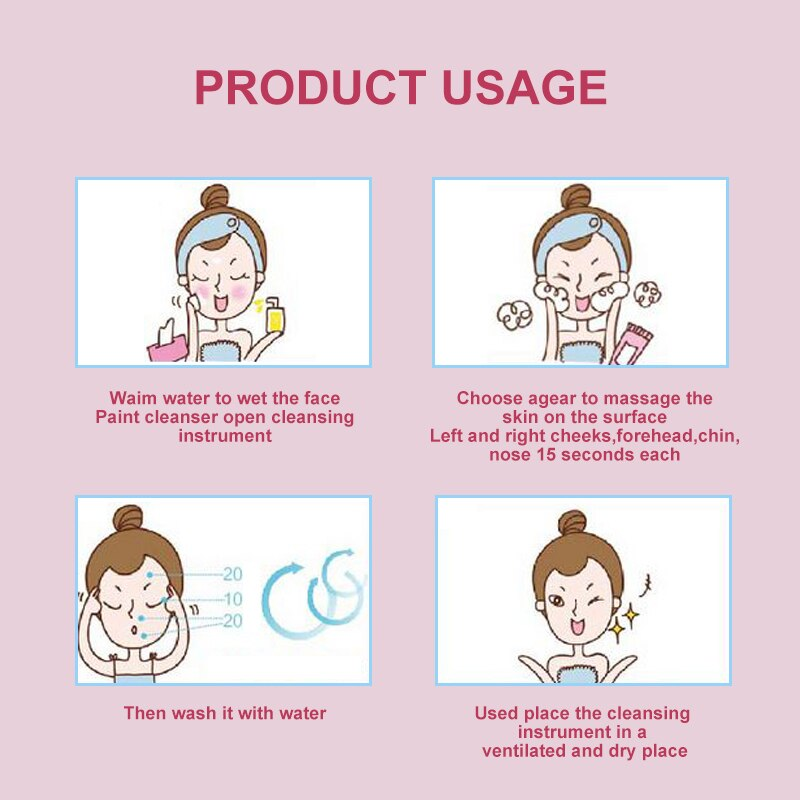 Купить с кэшбэком AmazeFan Mini Facial Cleansing Brush Electric Face Cleanser Deep Pore Cleaning Skin Massage Face Cleansing Brush Skin Massager