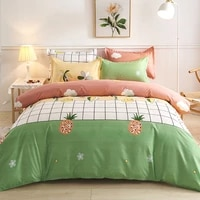 bedding set autumn and winter thick four piece set large duvet cover bed sheet and pillowcase three piece student dormitory set