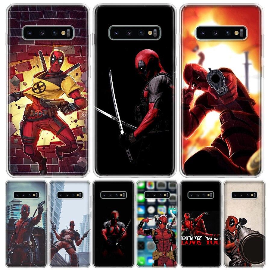 Marvel acción piscina Deadpool teléfono funda para Samsung Galaxy A6 7 8 9 10 20 30 40 50 70 80 51 71 91 01 21 S E M30S 2018 Plus (5G) Cov