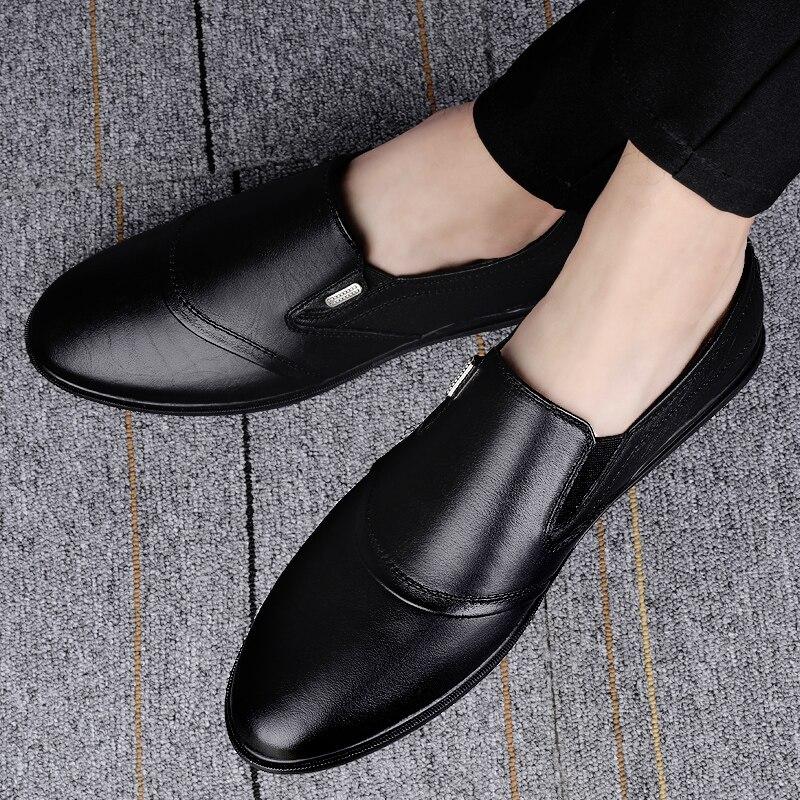 Sapatos de Condução Mocassins de Couro Sapato de Condução Masculinos Genuíno Sapatos Moda Artesanal Macio Respirável Mocassins Apartamentos 2021