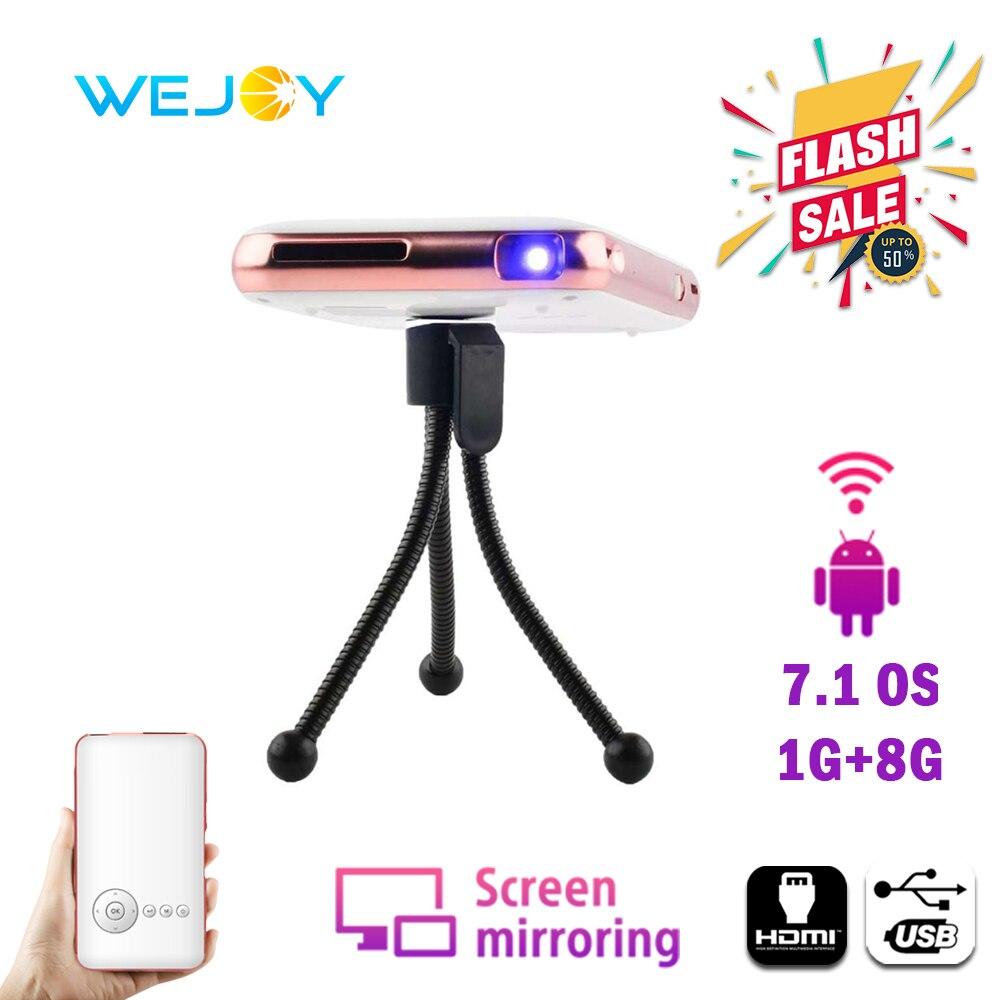 Wejoy-proyector portátil Mini, proyector de bolsillo para teléfono móvil con DL-S6 + 32G Android, WIFI, vídeo, mini proyector portátil