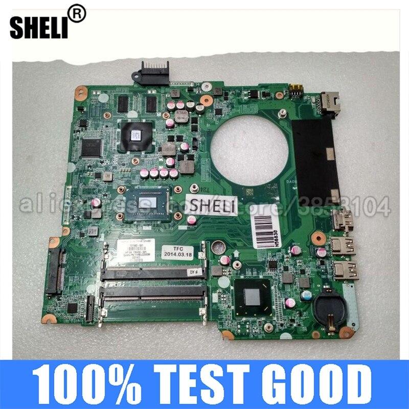 لوحة رئيسية للحاسوب المحمول SHELI متوافقة مع HP بافيليون 15 15-N لوحة رئيسية للحاسوب المحمول مع وحدة المعالجة المركزية 2117U DA0U81MB6C0 737983-001 737983-501 اختبا...