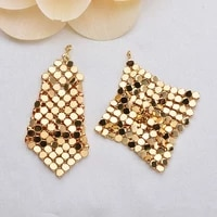 4pcs 35mm 18k gold color brass tassel stud earrings high quality jewelry findings accessories