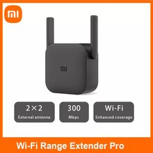 Global Version Xiaomi Mijia WiFi Repeater Pro Amplifier Router 300M 2.4G Repeater Network Mi Wireless Router 2 Antenna Home