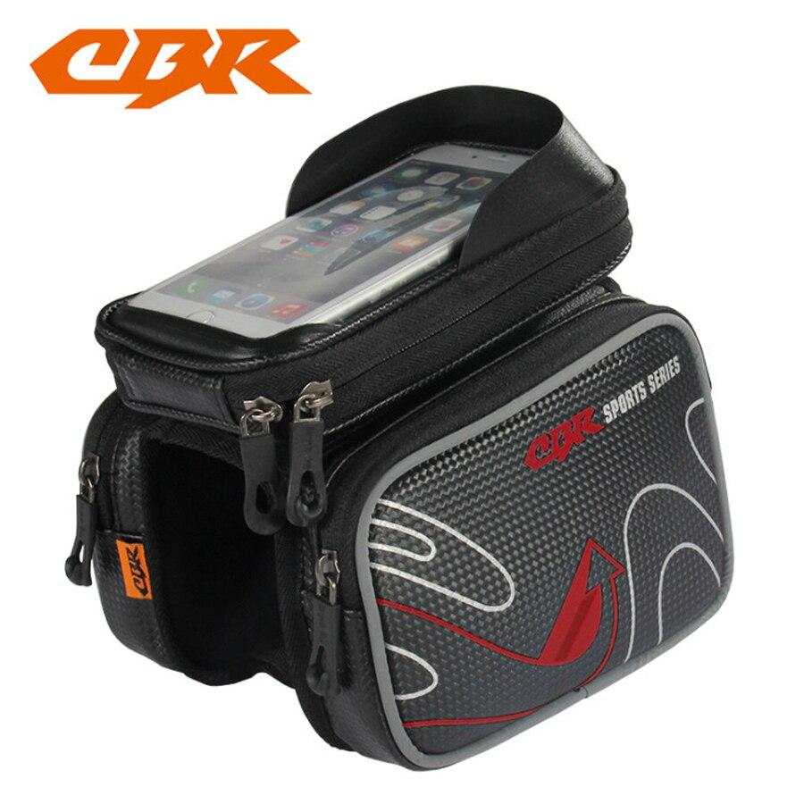 Bolsas de bicicleta marco frontal de alta calidad MTB bolsa de bicicleta accesorios de ciclismo pantalla impermeable táctil superior teléfono bolsa CBR