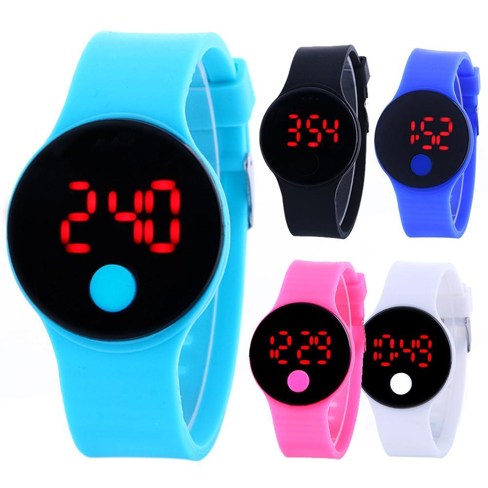 Digital Watch for Kids LED Display Digital Watch Boys Girls Silicone Strap Sports Digital Wrist Watches Kids Wristwatch Watch