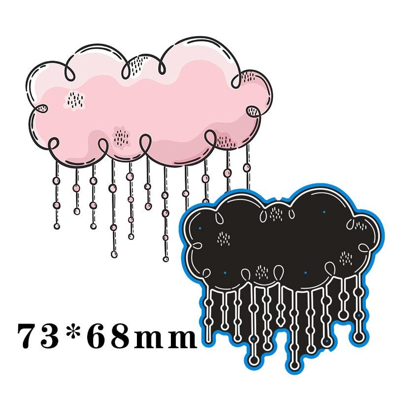 73*68mm Raining cloud Metal steel frames Cutting Dies DIY Scrap booking Photo Album Embossing paper Cards