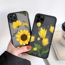 В форме цветка Подсолнух хризантемы Телефон чехол для iPhone 7 8 6S Plus SE 2020 11 12 Pro Max XS Max XR X Противоударная задняя крышка Fundas