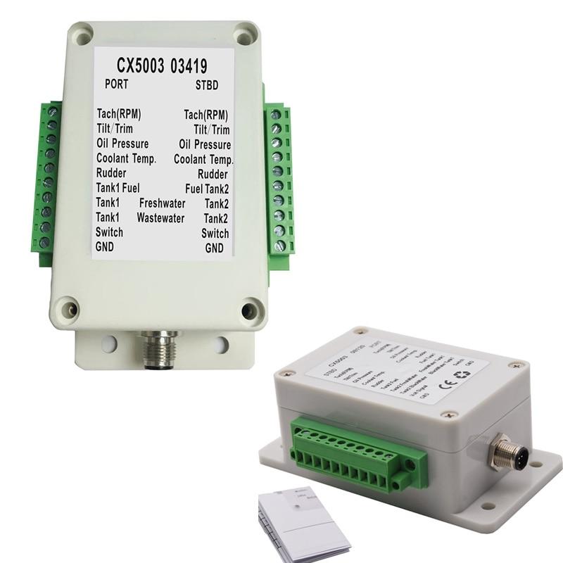 Double canal NME A2000 convertisseur ajustement 0-190 ohm carburant/capteur de niveau deau température de leau pression dhuile pour les convertisseurs de bateau