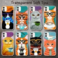 coffee milk drink bottle cat phone cases for iphone 8 7 6 6s plus x 5s se 2020 xr 11 pro xs max 12 12mini
