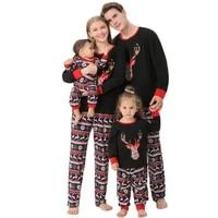 2021mother kidsbabyoutfitsclothesbebecouplesfamily matching christmasnew years pajamachildren setdress