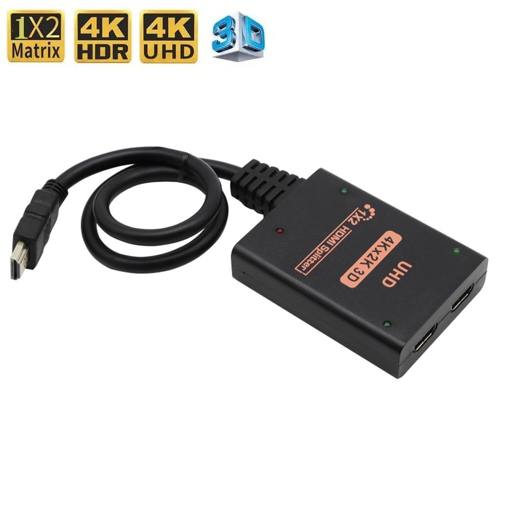 HDMI 4K-conmutador compativel ¿Divisor 1080p 1x2 Adaptador ¿interruptor párr o Projetor x...