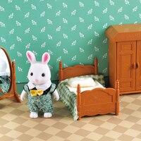 1:12 лесные животные семейная вилла мебель кукла игрушка лесной Семейный мини-набор для спальни DIY миниатюра Кукольный дом детская мебель