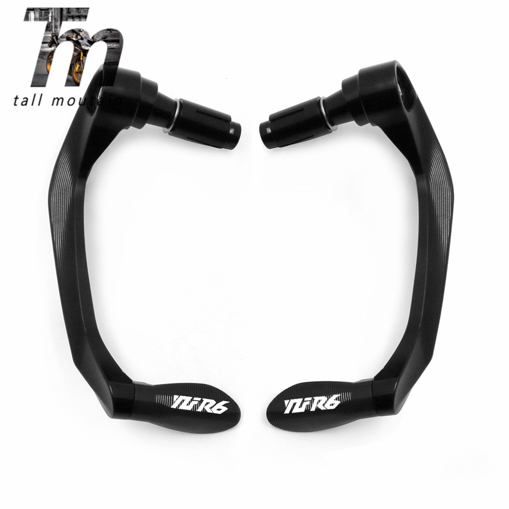 Motorcycle 7/8''22mm CNC Universal Handlebar Grips Brake Clutch Levers Guard Protector For YAMAHA YZF-R6 YZFR6 YZF R6 All Years for yamaha yzfr6 yzf r6 yzf r6 1999 2000 2001 2002 2003 2004 motorcycle clutch brake lever extendable adjustable handle grips