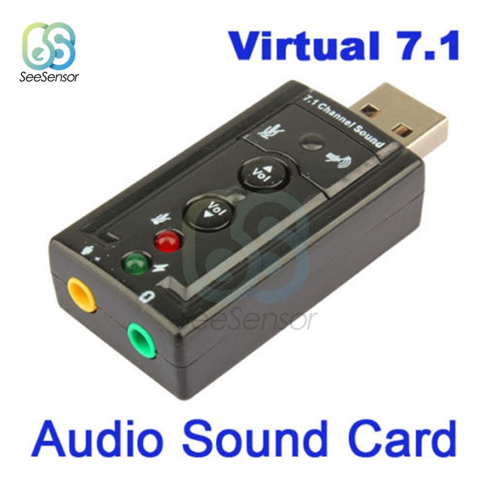 Neue Mini USB 2,0 3D Virtuelle 12Mbps Externe 7,1 Kanal Audio Soundkarte Adapter für PC und Laptop