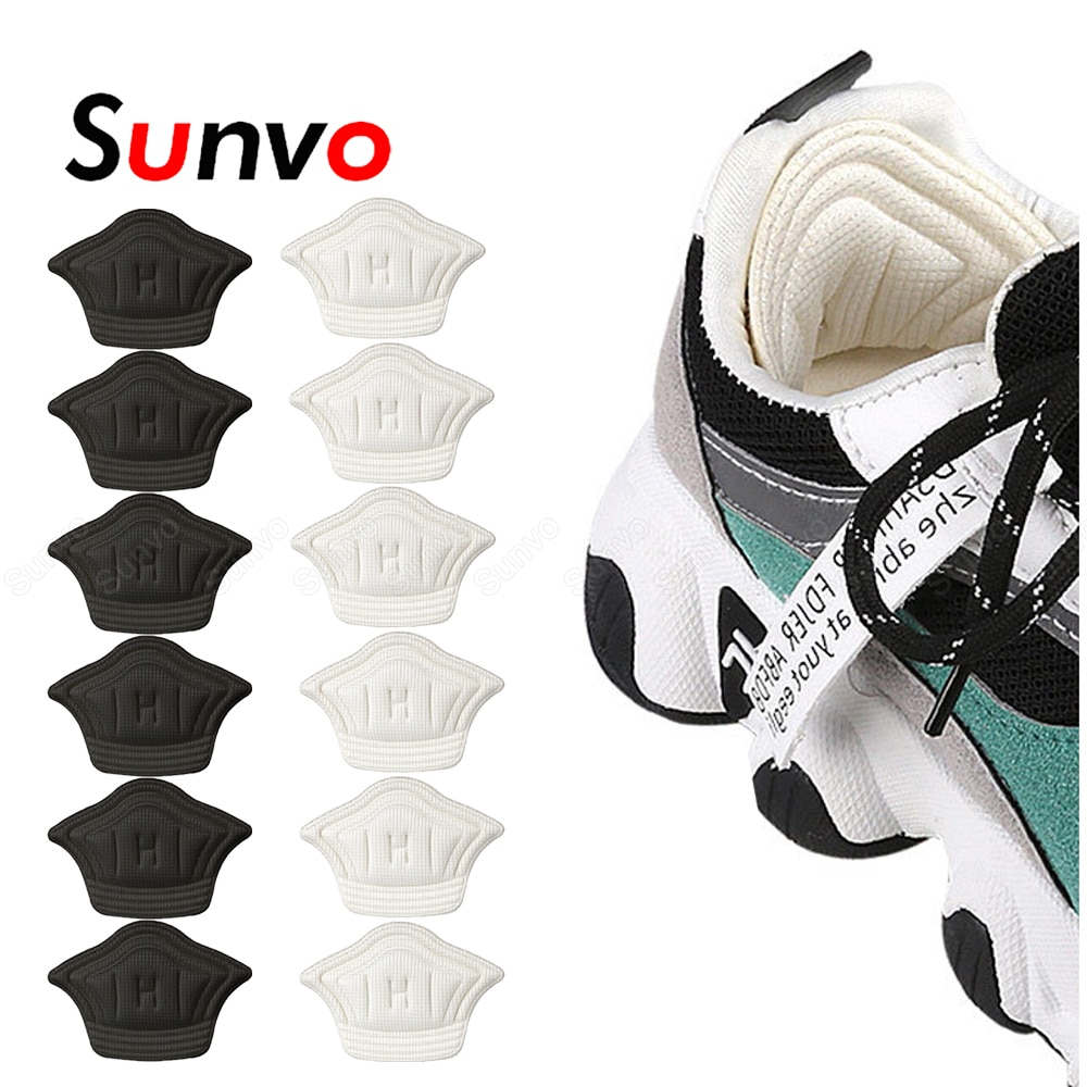 Sunvo 6 Pairs Heel Stickers for Sports Shoes Size Reducer Heel Liner Grips Protector Pad Pain Relief