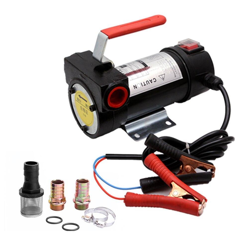 550 واط 24 فولت زيوت كهربائية صغيرة مضخات المحمولة D-iesel K-erosene مضخات النفط محرك من النحاس النقي أداة التزود بالوقود المنزلية