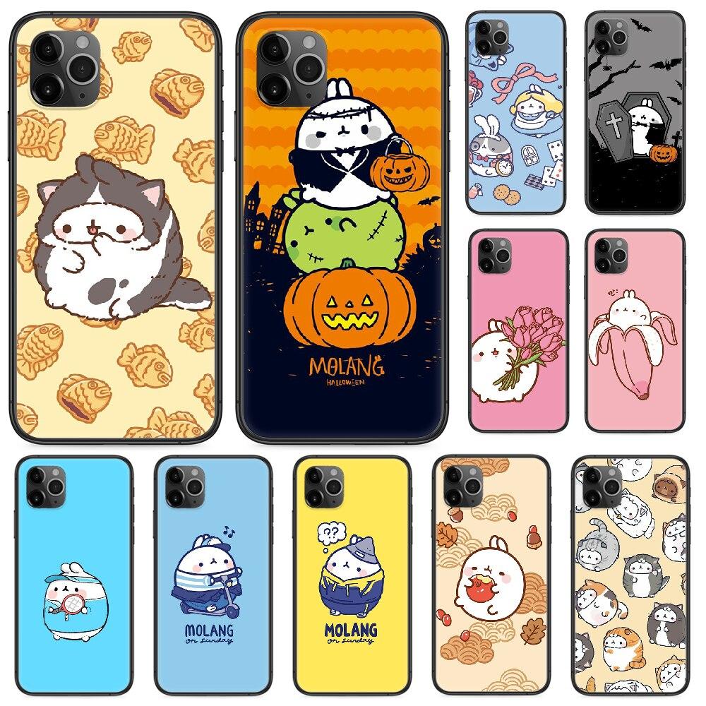 De dibujos animados lindo de Halloween caja del teléfono para iphone 4 4s 5 5S SE 5C 6S 6 7 8 plus X XS X XR 11 PRO MAX 2020 negro parachoques bastante primer suave