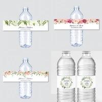 printable printed greenery wedding water bottle labels green white custom water bottle labels personalized water bottle