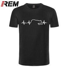 REM Border Collie Heartbeat T-Shirt, Dog Lifeline Tees for Lady Hip Hop T Shirt Women Sexy Tops Tee 100 % Cotton Let Sleeping