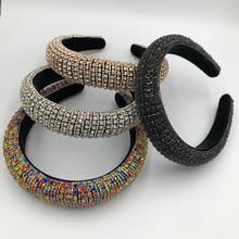 2 accesorios para cabello de mujer lujosos pares de bandas para el cabello con diamantes de imitación brillantes
