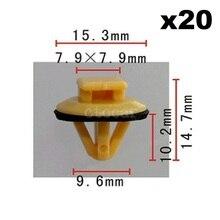 20pcs OEM Nylon Fit for Toyota / Universal (Fit Size) Door Moulding Clip W/Sealer 90467-10077 Expansion Nut