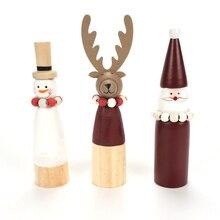 Décorations de noël pour maison   Bonhomme de neige en bois, poupées de rennes, mini ornements pour noël 2019, cadeaux de fête du nouvel an, bricolage