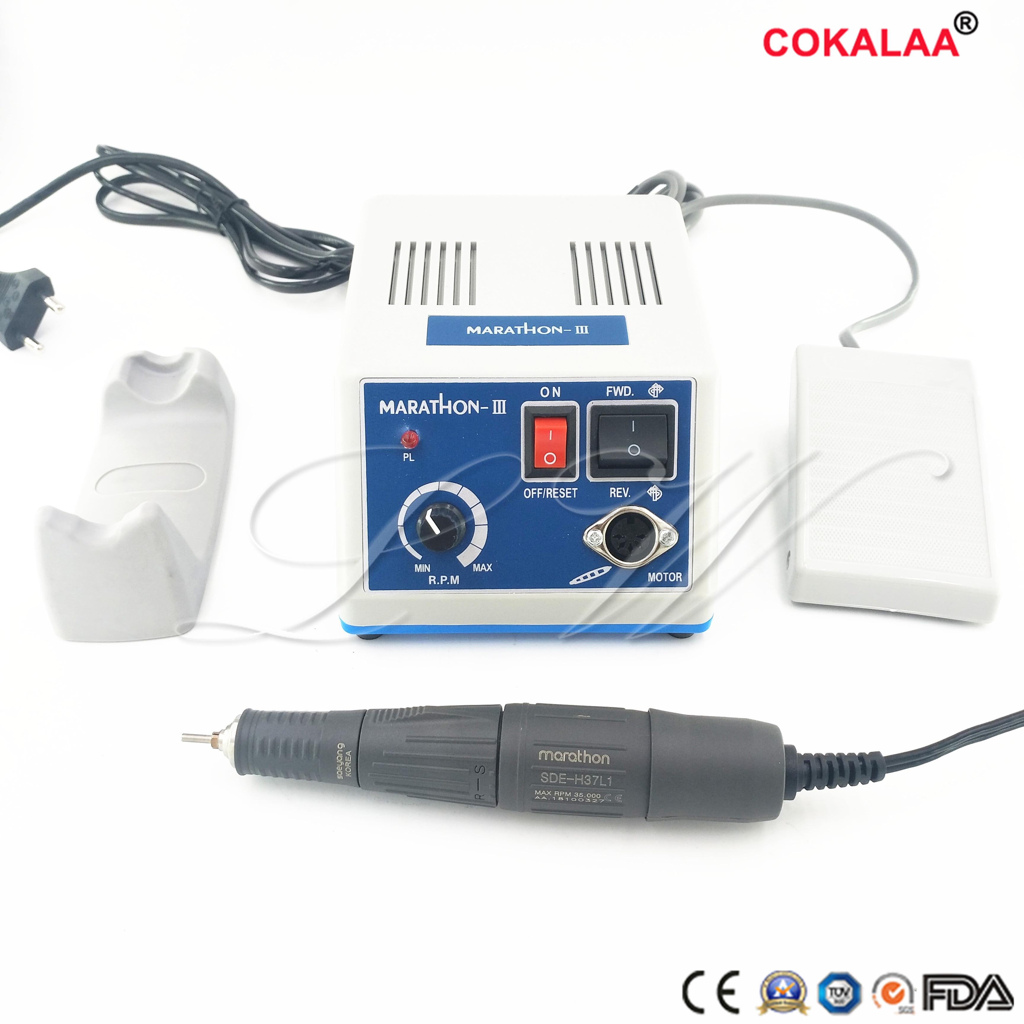 مختبر الأسنان ماراثون آلة محرك دقيق N3 + 35K RPM, بقبضة تلميع 110/220V شحن مجاني