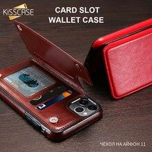 KISSCASE, funda tipo billetera de cuero para iPhone 11 7 8 xr xs 7plus, funda con tarjetero para iphone 11pro 11pro max funda 8plus 6 6s 5s