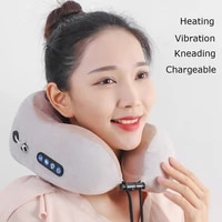 neck massager u shaped pillow multifunctional electric massage pillow car and home therapy cervical massager for neck relax