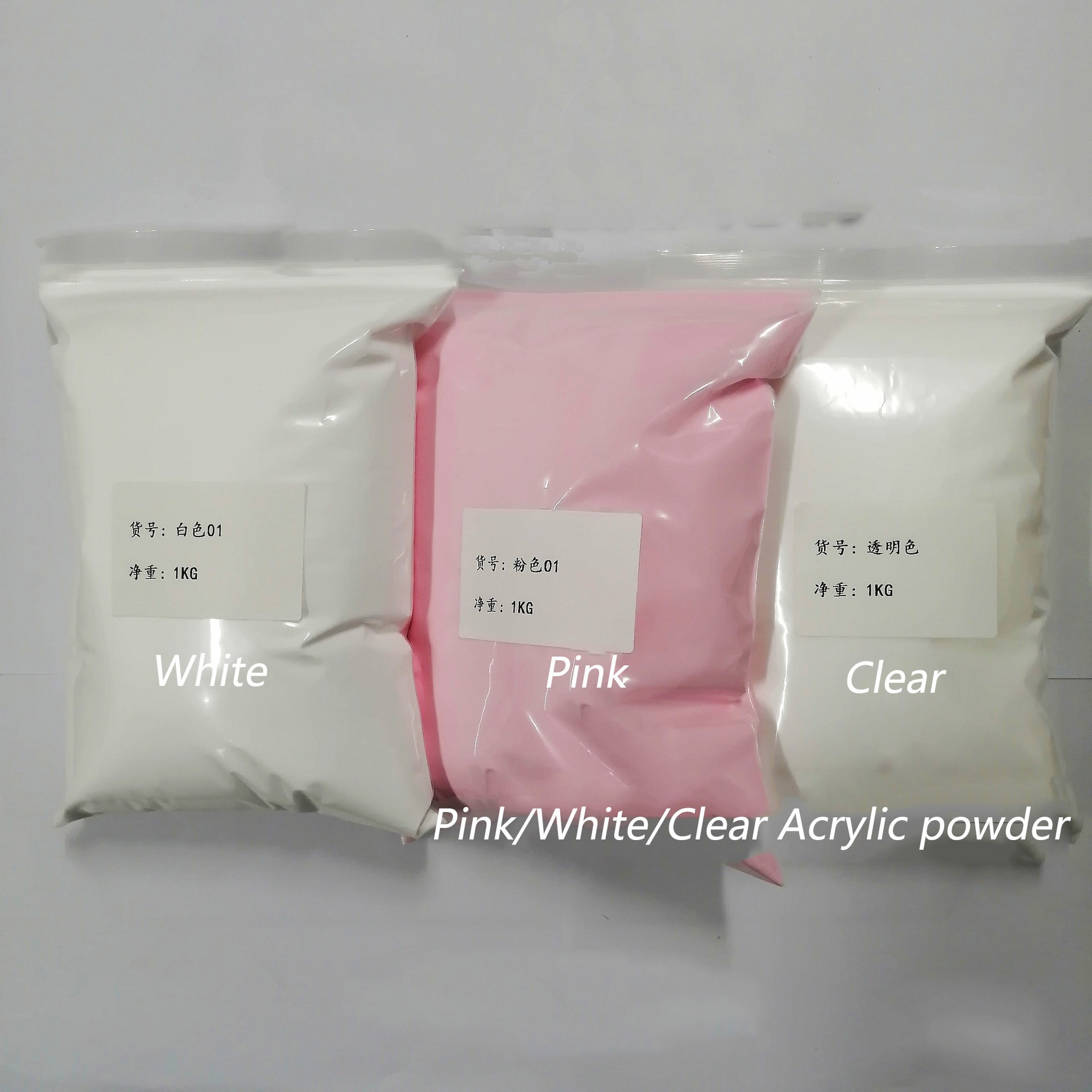 100G Solid Dip/Acrylic Powder White Clear Pink Powder Nail Dust 3 Colors Chrome Nail Powder Dipping Powder Pigment For Nails Art недорого