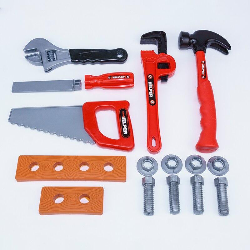 conjunto de ferramentas de reparo fingir brinquedo 15 pcs kits de construcao diy