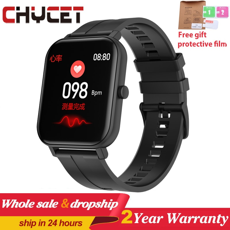 2020 toque completo relógio inteligente relógio de temperatura do corpo smartwatch freqüência cardíaca monitor oxigênio no sangue relógios inteligentes das mulheres dos homens para android ios