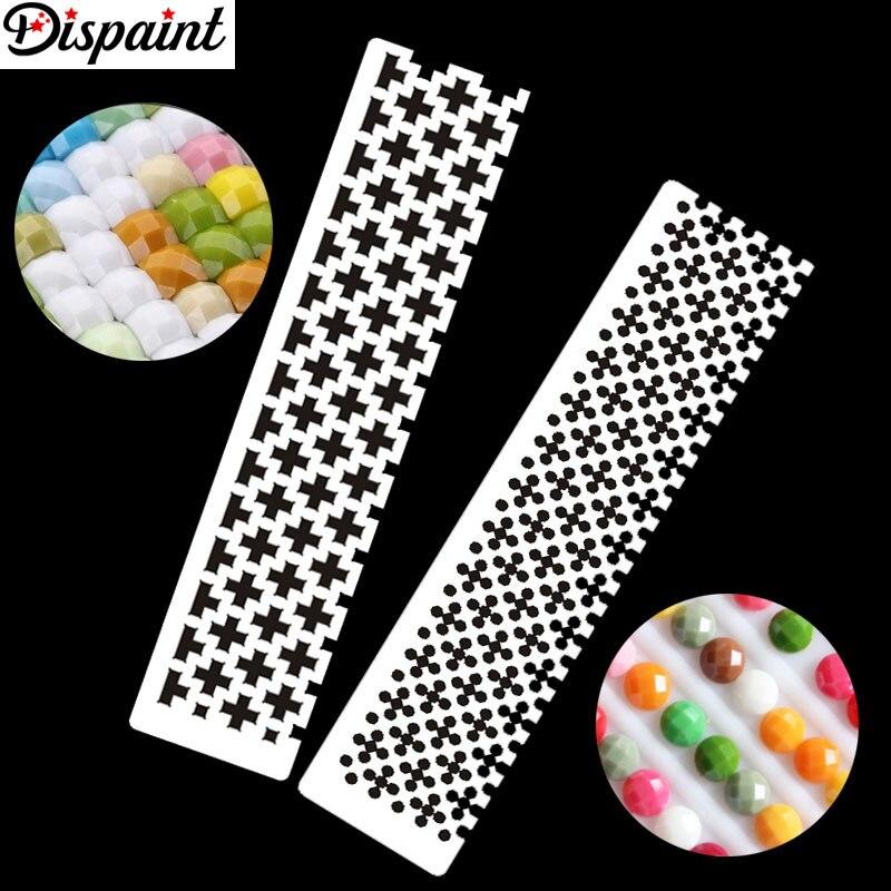 Dispaint DIY Инструменты для вышивки картин со стразами чертежная линейка квадратная круглая Дрель Алмазный аксессуар для вышивки из нержавеющей стали