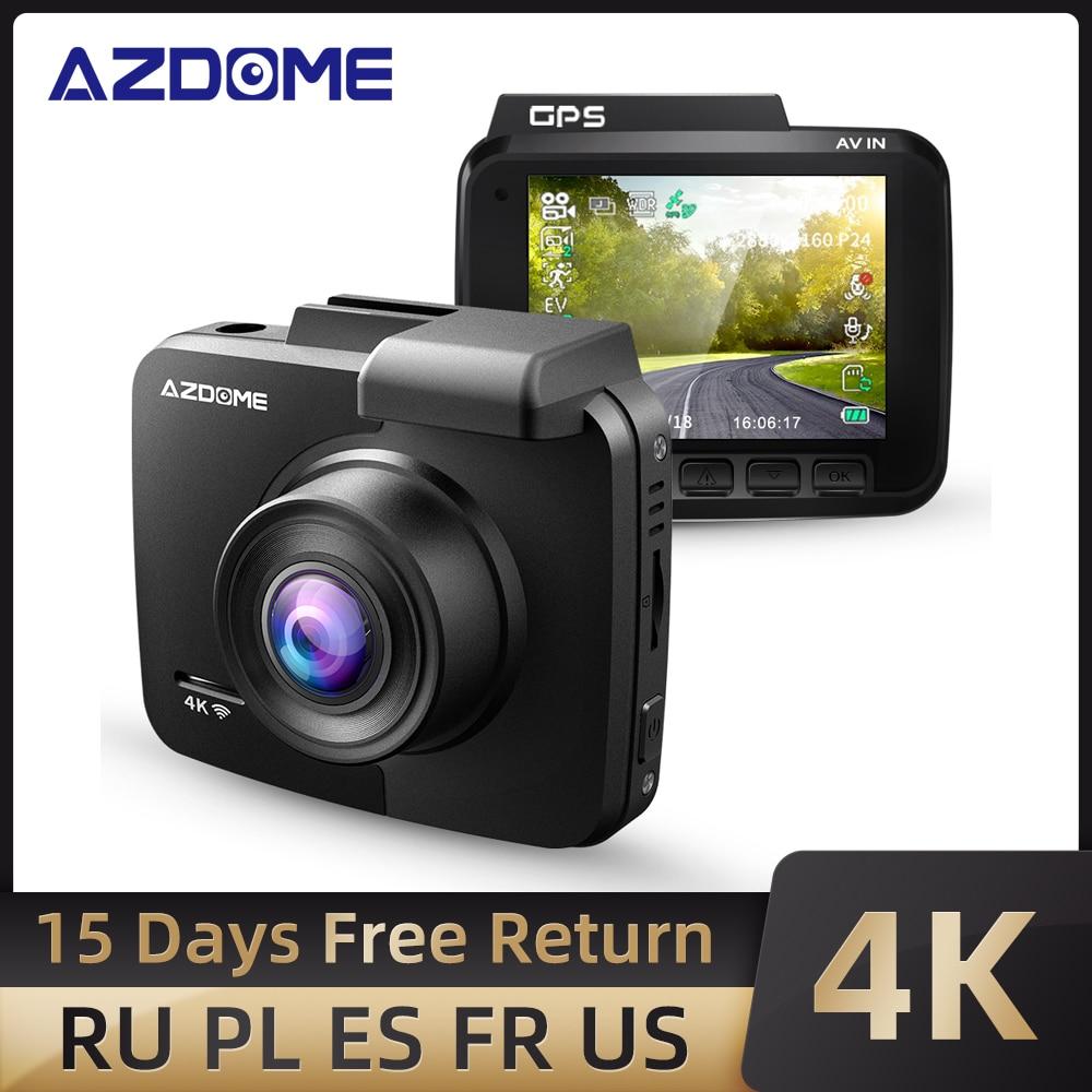 Newest AZDOME GS63H Dash Cam Dual Lens 4K UHD Recording Dashboard Camera Super Night Vision - WDR Built-In GPS Wi-Fi G-Sensor